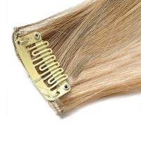 Mèche extension à clips 3 clips 55cm Couleur #6/613 - Châtain clair méché blond 804-6/613-55